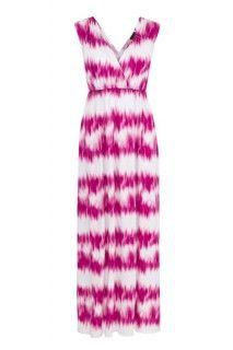 Long Maxi Dress in Orchid #summer #summerdress #tribalsportswear #maxidress #dress #fashion #style #summerstyle #orchid #hot pink #tiedye