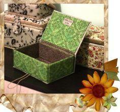 МК: Прелестная шкатулка из картона и ткани своими руками
