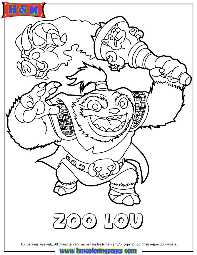 skylanders chompy coloring pages - photo#20
