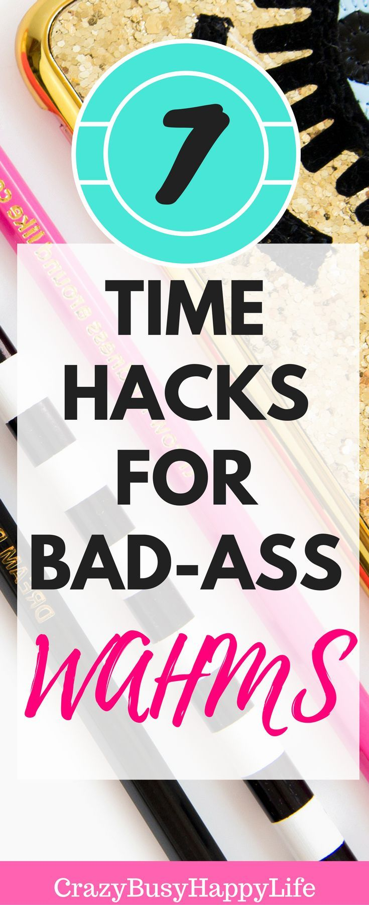 This post is for all you work at home moms out there who are struggling with productivity. Here's seven time management hacks to help boost your productive day. work-at-home, wahm, working from home, work online, blogging, planning, planner, organized, productive