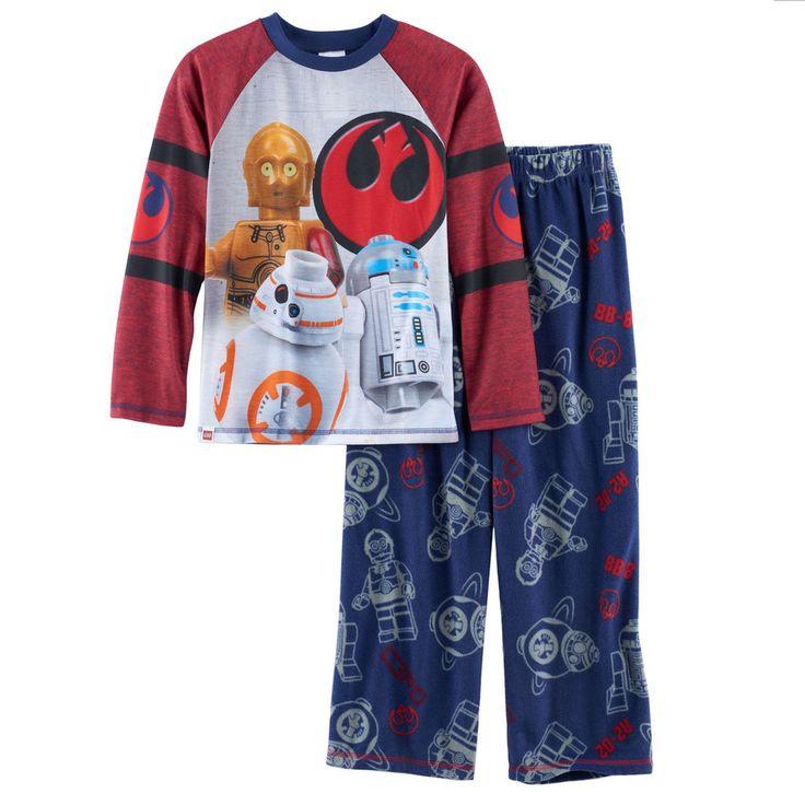 Boys 4-12 LEGO Star Wars 2-Piece Pajama Set, Size: 10-12, Blue Other