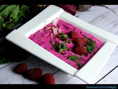 Kolorowa Kuchnia Magdy: Malinowy chłodnik z ogórkami małosolnymi