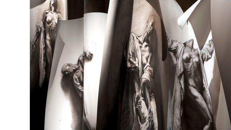 PENCIL ART by ERNEST PIGNON ERNEST « Extases » entre Spirituel et Charnel.