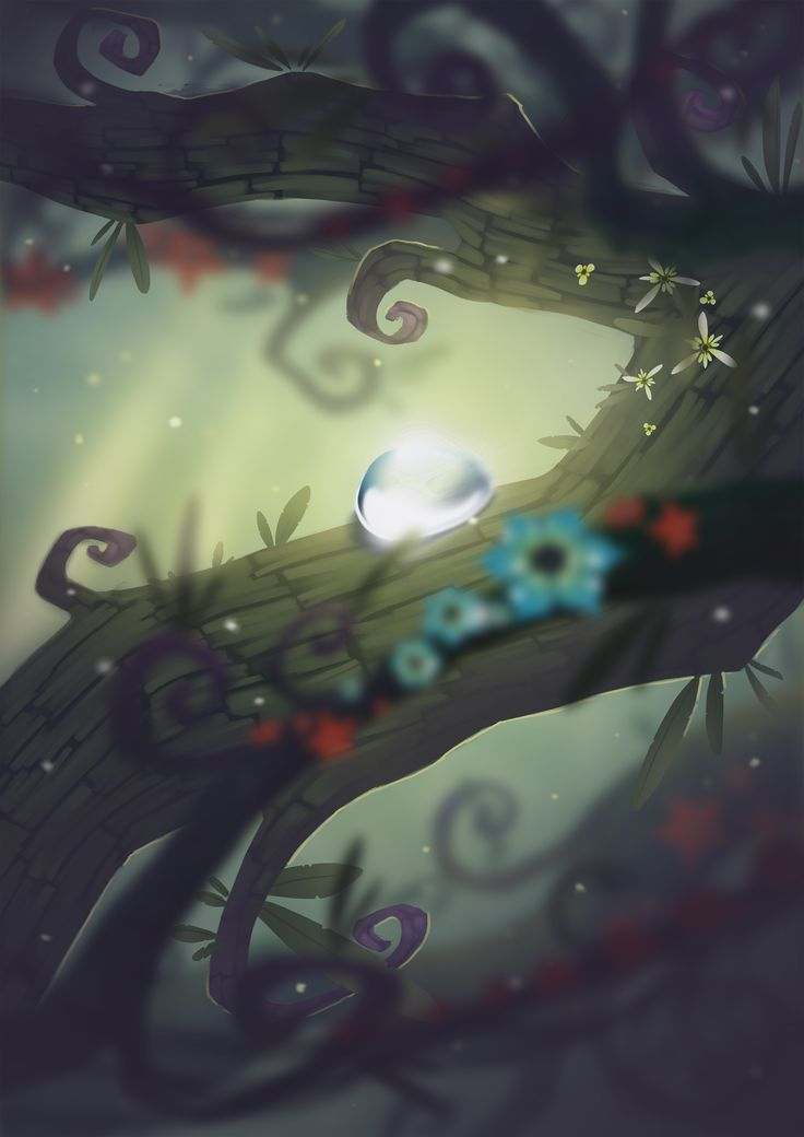 """Baum"" Poster Illustration  By Dom Littler (A Fox Wot I Drew)   #Baum #Gamedev #Indie Game #Video Games #Art #Illustration #Design #Trees"