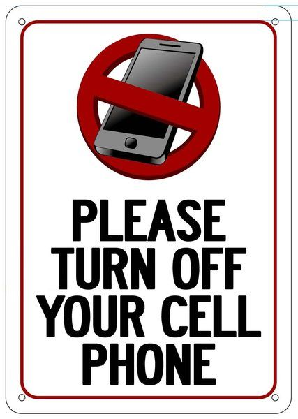 please turn off your cell phone sign  aluminum signs 10x7