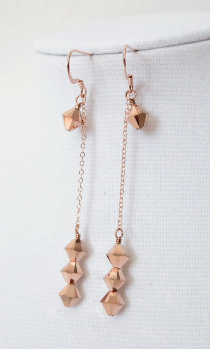 What color would you wear these Rose Gold Earrings with?