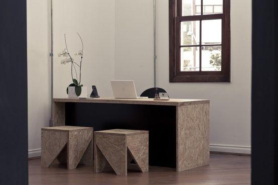 osb platten innenausbau schreibtisch hocker diy schreibtisch hocker schreibtisch und mobel selber bauen