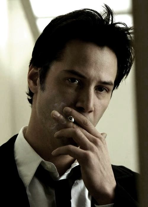 keanu reeves, Constantine, and cigarette image