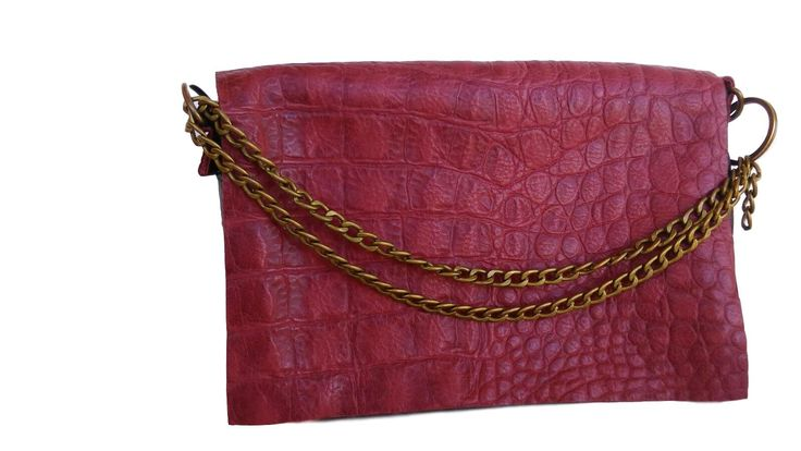 Bordeaux croco texture clutch, leather clutch, Bordeaux purse, leather purse handmade, Gift for her, Zipper purse, Minimalist clutch, leather Pouch, Cosmetics case