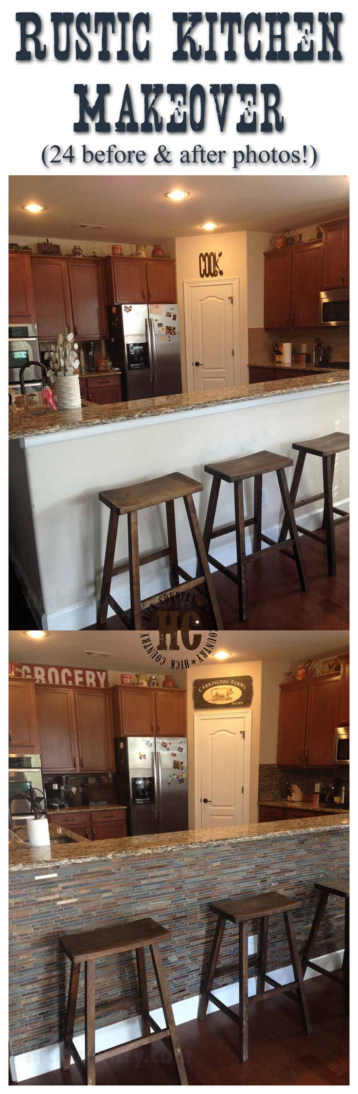 Rustic Kitchen Makeover View Before And After Photos