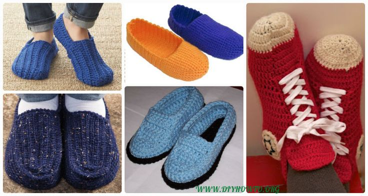 Crochet House Slippers Shoes, Loafers, Racing Car Slippers, Mocassin for Guys, Boys or Men with Easy Free Patterns