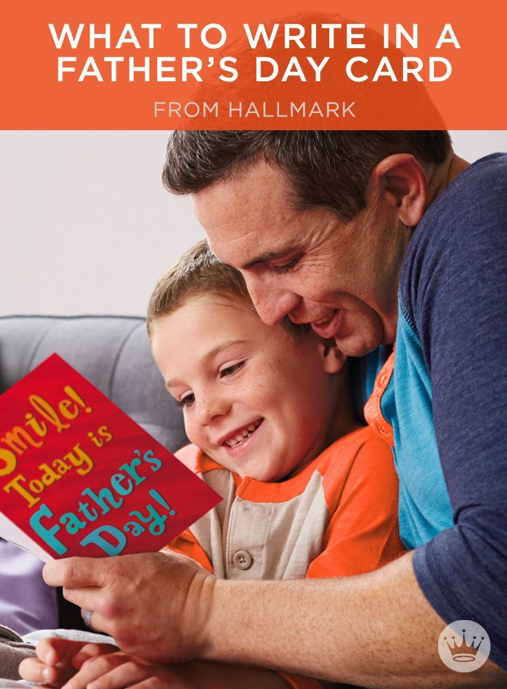 Father's Day Messages: What to Write in a Father's Day Card | Stuck on what to write in his card? Get your pen rolling with these message ideas from Hallmark card writers. Includes more than 100 Father's Day wishes, plus helpful writing tips.