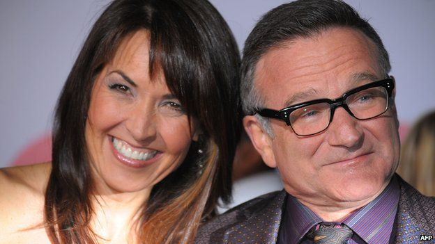 Robin Williams with wife Susan Schneider