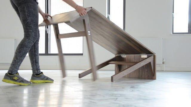 Table modulable Archimède par Boulon Blanc