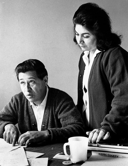 Chavez and his wife Helen in 1966