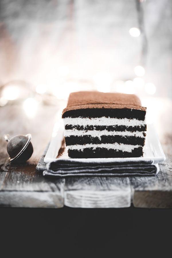 Chocolate rum layer cake