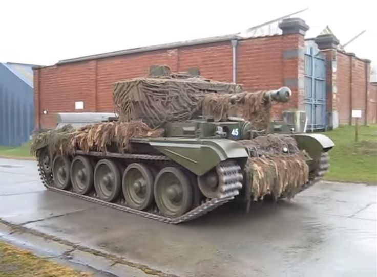 British A27M Cromwell tank - An equivalent to the T-34/76 but entering service at the same time as the T-34/85