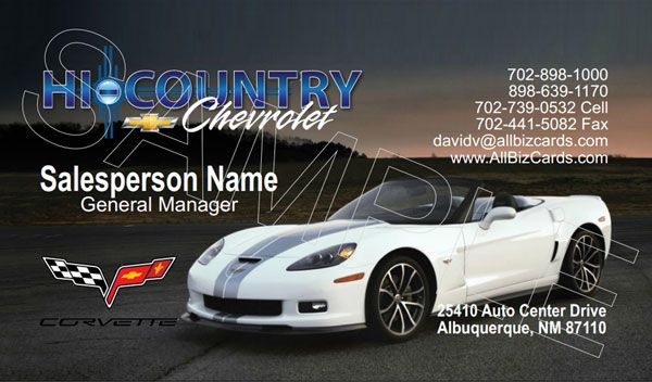 1000 images about dealership cards chevrolet automotive for Corvette business cards
