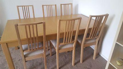 IKEA BJURSTA / BÖRJE dining set (table and 6 chairs)   Dining Tables   Gumtree Australia Port Phillip - Elwood   1126839941