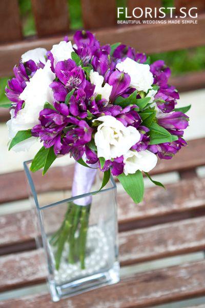 Purple alstromeria Wedding Bouquet