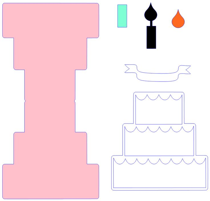 26 best Cards, Cards, Cards! images on Pinterest Project ideas - birthday cake card template