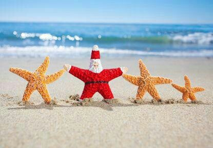 Christmas at the beach - With the kids in the back ground?