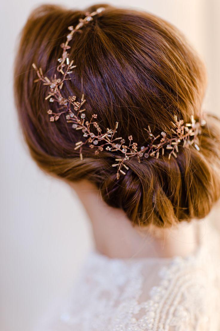 Headpiece: www.editarosenrot.com Photography: http://daniela-porwol.de/   Floral design: http://www.instagram.com/ponk_rentals/   Read More: https://www.stylemepretty.com/2017/12/16/austria-elegant-wedding-inspiration/