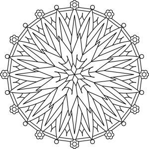 Starburst Flower Mandala Is A Traditional Style Circular