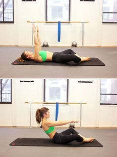 Pilates move for flat abs: diamond roll-up