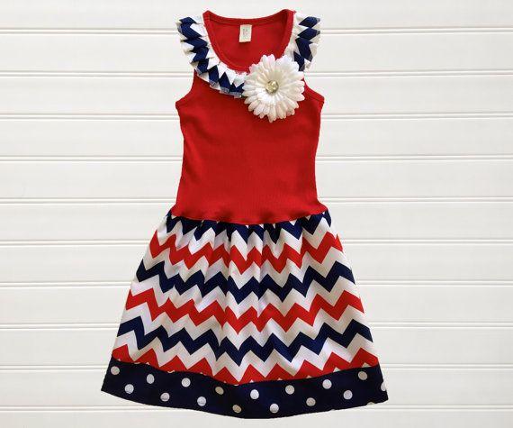 Red summer dress pinterest july 4th
