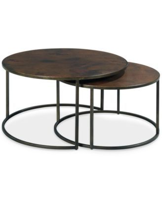 Copper Round 2-Piece Nesting Cocktail Table Set Like it even better in our house!