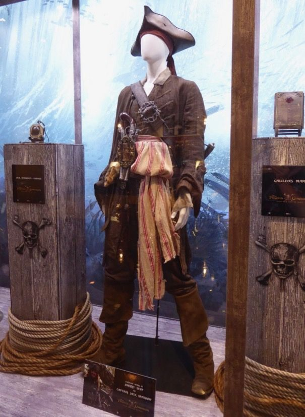 Capitaine Jack Sparrow Gilet Costume Pirates of the Caribbean 45OSTdmtnt
