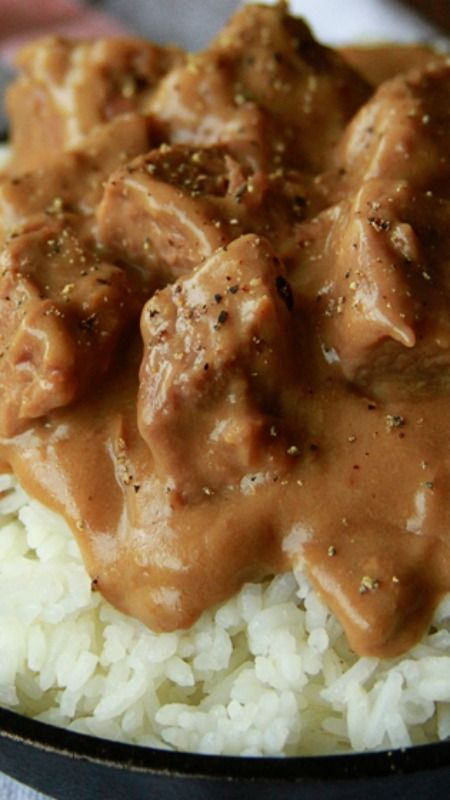 Slow Cooker Beef Tips and Rice Recipe ~ so easy and hearty