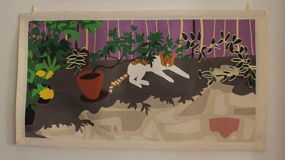 Arazzo con gatto / Wall tapestry with cat
