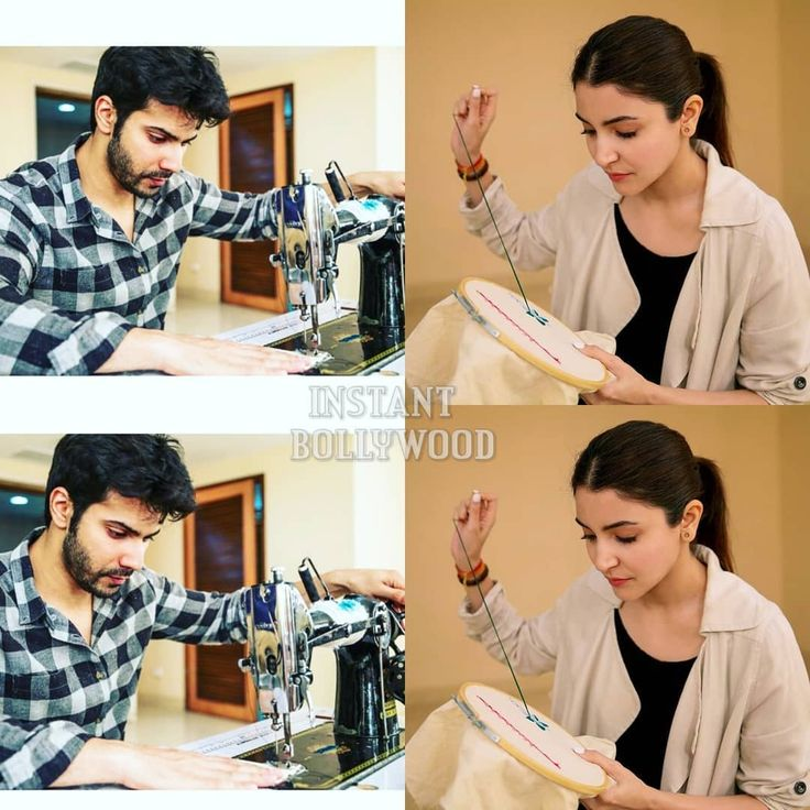 "6,113 Likes, 23 Comments - Bollywood (@bollywood) on Instagram: ""Varun Dhawan and Anushka Sharma prep for their upcoming movie Sui Dhaga. @Bollywood ️ ️ ️ . . .…"""