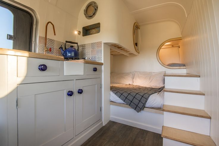 Jack Richens from Oxford used his DIY skills to turn this Mercedes Benz Sprinter van into a tiny luxury camper van to use as his holiday home.