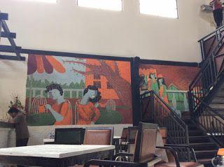 Mural di Hugo Cafe Semarang - Batam Painting