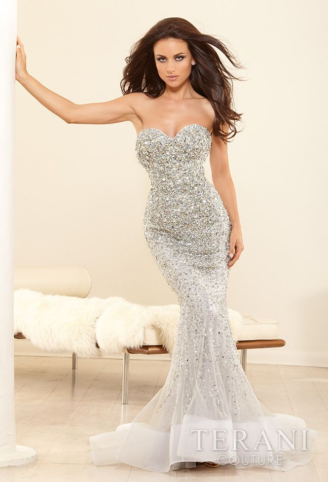 Terani couture beaded mermaid gown covet items for Terani couture wedding dress