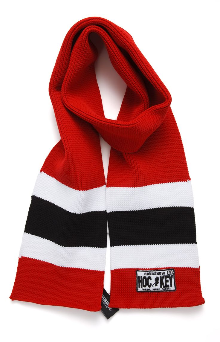 Hockey Scarves made from hockey sock! Great stocking stuffer in your favorite team colours....