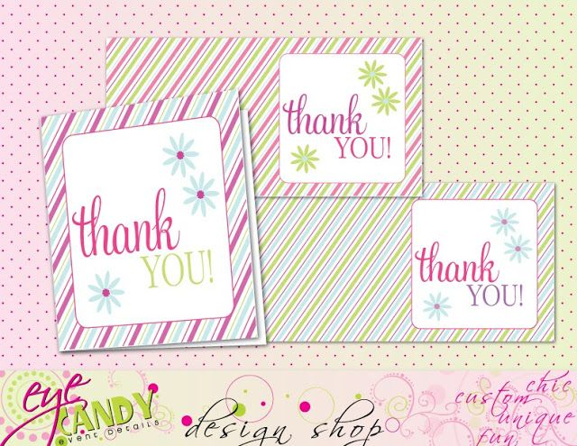 Thank you cards - FREE Download   by Eye Candy Creative Studio #freedownload #thankyoucards
