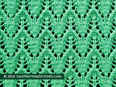 Dainty Chevron Knitted Lace Stitch