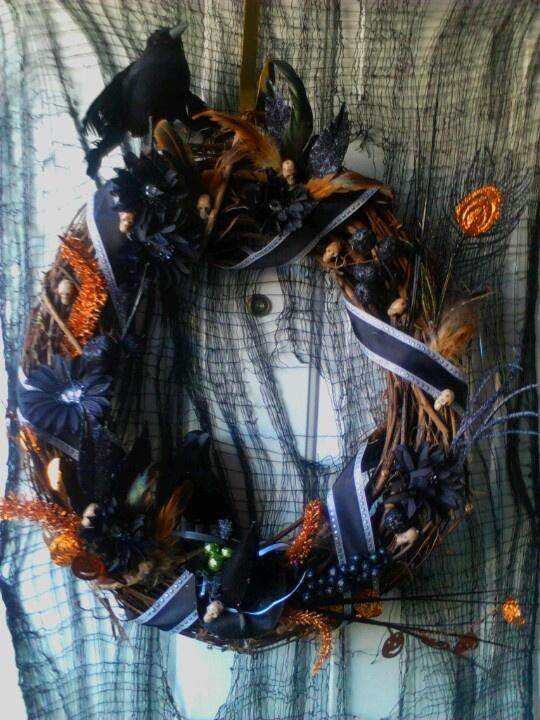 Halloween Reef Reefs Pinterest Witch Wreath Pudding