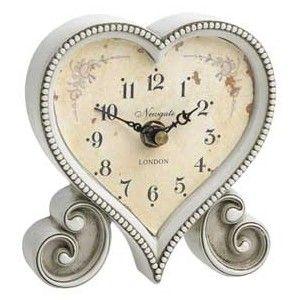 Heart Shaped ClockVintage Heart, Shabby Chic Clocks, Vintage Clocks, Heart Shape, Heart Clocks, Hearty Clocks, Shape Clocks, Beautiful Heart, Heart Shapped