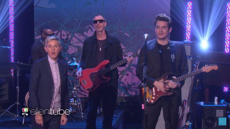 John Mayer on the Ellen show today. 02/24/17