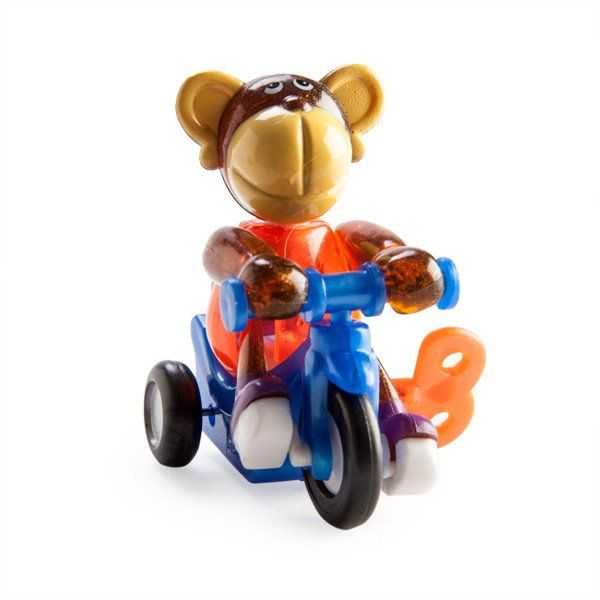 Wind up Moe the bike riding monkey