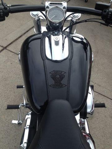 DV8 breakout leather tank strip laser etched