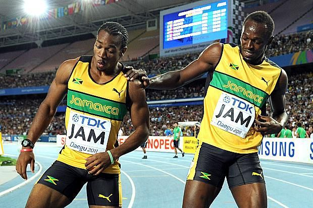 Usain Bolt & Yohan Blake  Jamaican 100m Olympic Gold and Silver Medalist