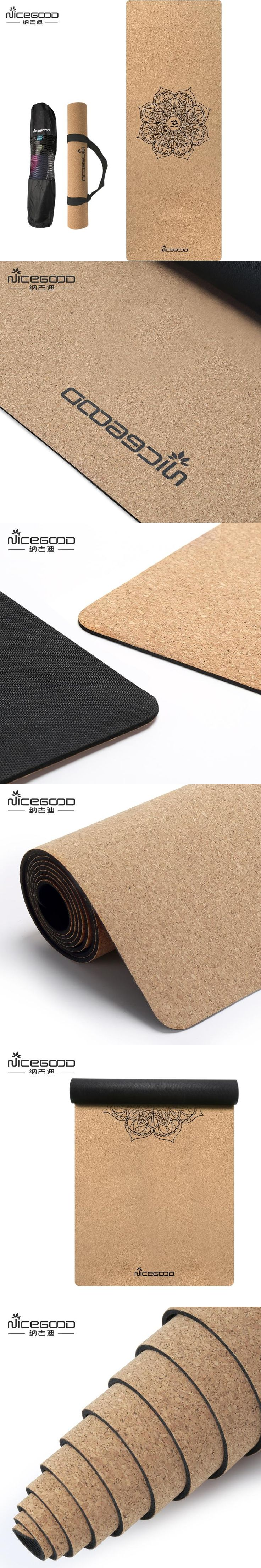 Basically Perfect Cork Yoga Mat w/ Natural Rubber, Non-Toxic, Non-Slip, Grips Even Better w/ Sweat at Hot Yoga