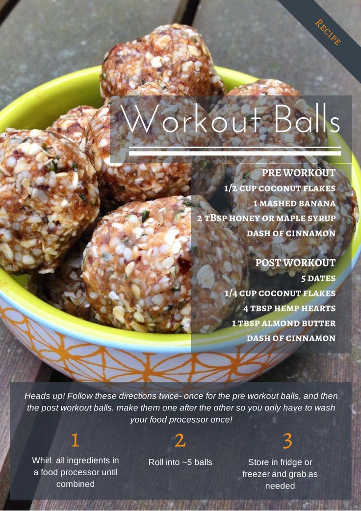 Workout Balls. Pre & Post Workout recipes + a workout plan! | Food Savvy