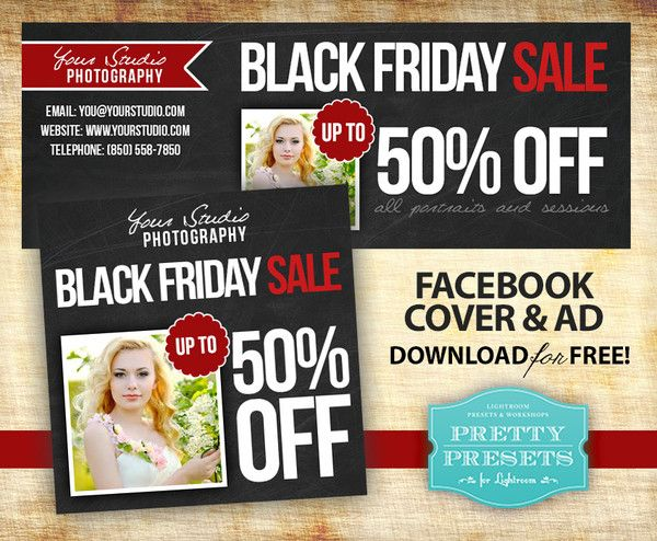 Black Friday Sale + Free Black Friday Sale Template for Photographers | Pretty Presets for Lightroom